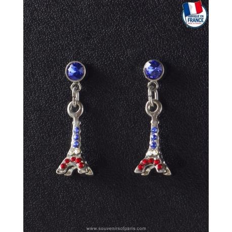 Eiffel Tower FRANCE colors Earrings