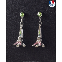 Paradise Eiffel Tower Earrings