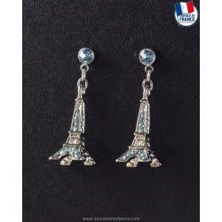 Sapphire Eiffel Tower Earrings