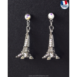 White Eiffel Tower Earrings