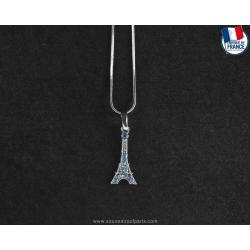 Sapphire blue Eiffel Tower Necklace