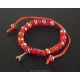 Paris Bracelet red pearls and red cord