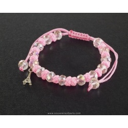 Paris Bracelet white pearls and pink cord