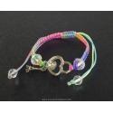 Paris Heart Bracelet and multicolor cord