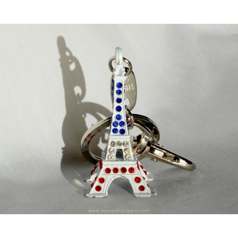 Eiffel Tower Stars Key Ring