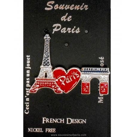 Eiffel Tower diamonds Pin