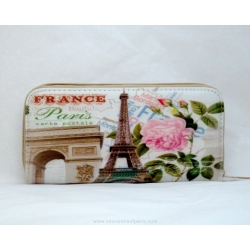 Eiffel tower and the flower wallet