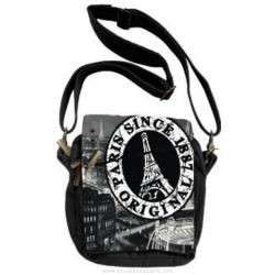 Paris Stamp Shoulder strap bag