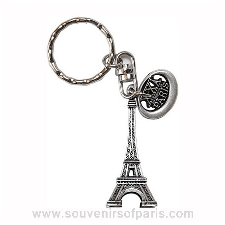 Medal and Eiffel Tower Key Chain