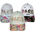 Baseball cap Paris flowers