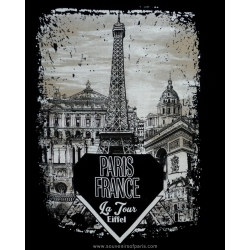 T-shirt Paris Diamond Eiffel tower