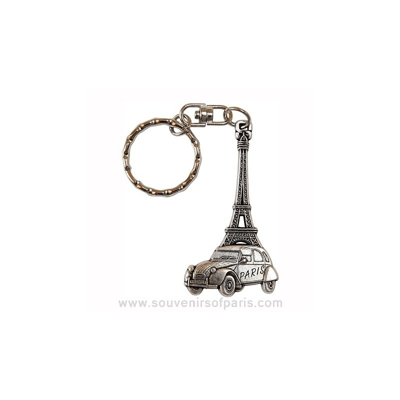 2cv  eiffel tower key chain