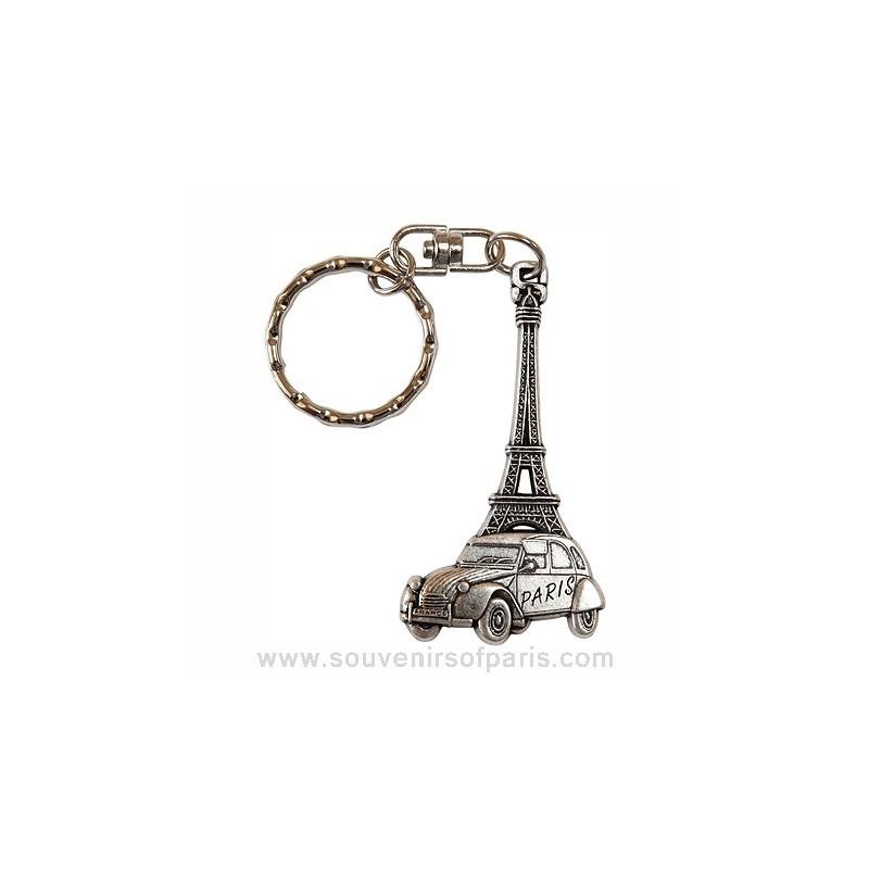 2cv  eiffel tower key chain