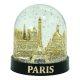 Snow globe Paris 3 Monuments (big) - Made in France