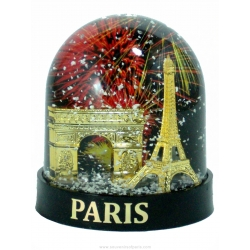 Snow globe 2 Monuments (big) - Made in France