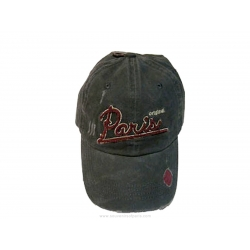 Old-looking and pierced baseball cap