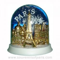 Festive Paris Snowglobe