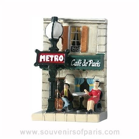 Cafe and Metro Paris Magnet