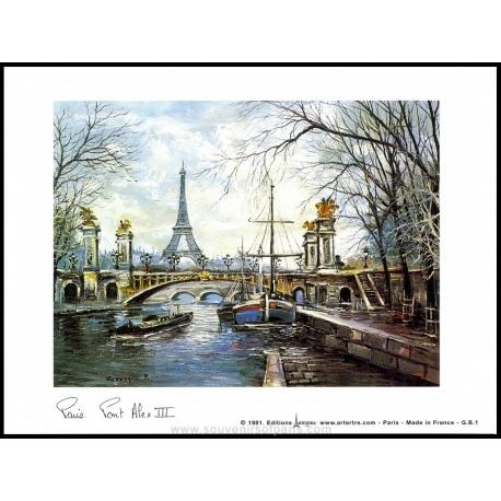 Paris poster in color Big size