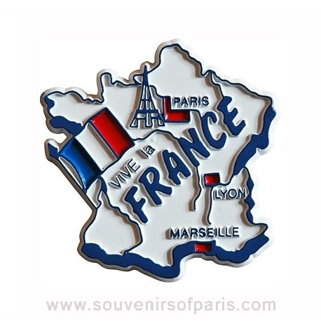 "Rubber ""Vive La France"" Magnet"