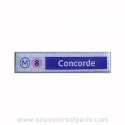 Concorde Metro Station Magnet