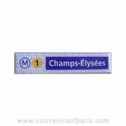 Champs Elysées Metro Station Magnet