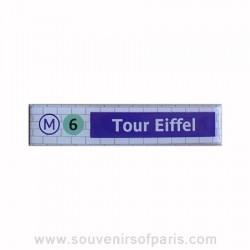 Tour Eiffel Metro Station Magnet