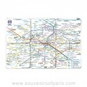 Paris Metro Map Coasters