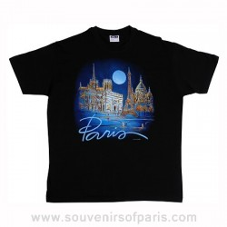 Black Paris Moon T-Shirt