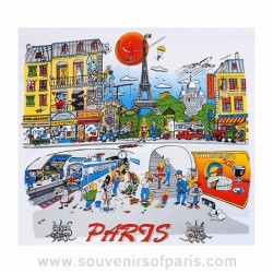 Paris Cartoon T-Shirt