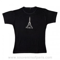 Paris Eiffel Tower Strass T-shirt
