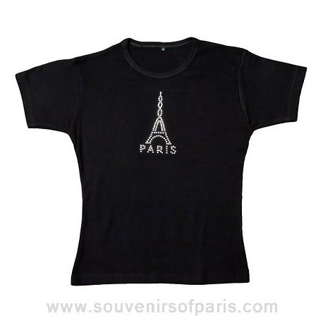 Paris Eiffel Tower Strass T-shirt