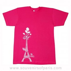 Eiffel Tower and Rose T-shirt