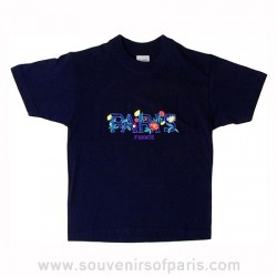 Embroidered Flowers Paris T-Shirt