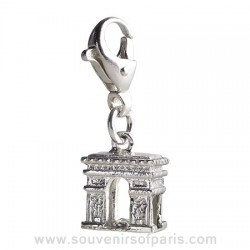 Sterling Silver Arch of Triumph Charm