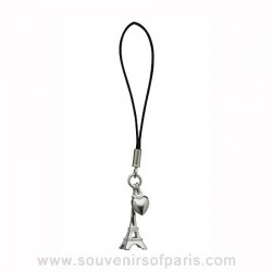 Sterling Silver Eiffel Tower Cell Phone Charm