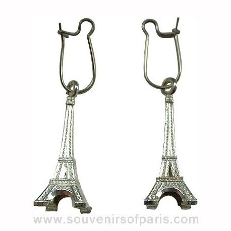 Eiffel Tower Souvenir Silver Earrings
