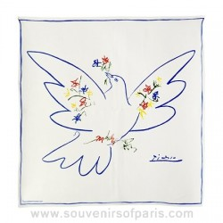 "Picasso ""White Dove"" Silk Scarf"