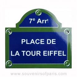 Place de la Tour Eiffel Enamel Street Sign