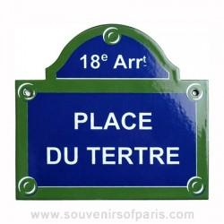 Place du Tertre Enamel Street Sign