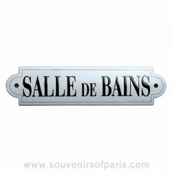 Enamel signs paris souvenirs for Salle de bain door sign