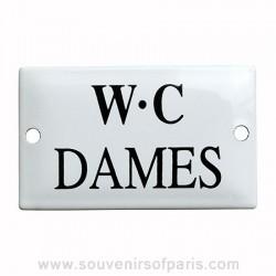 Ladies' Toilet French Enamel Door Sign/Plaque
