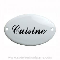 Kitchen Oval Enamel Door Sign/Plaque