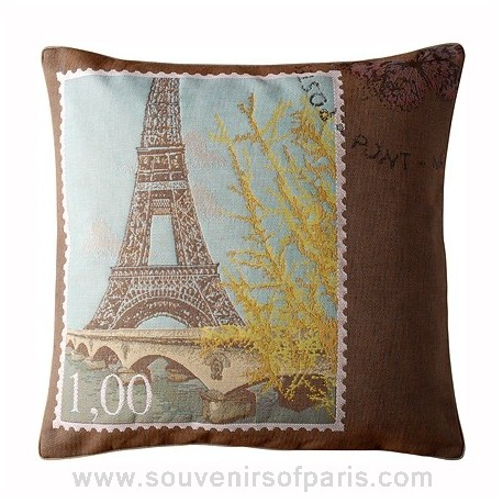 "Eiffel Tower Pillow Cover ""Love From Paris"""