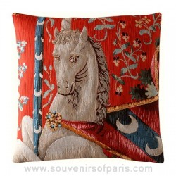 The Lady and the Unicorn Tapestry Pillow