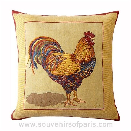 """French Pillow Cover """"Le Coq"""""""