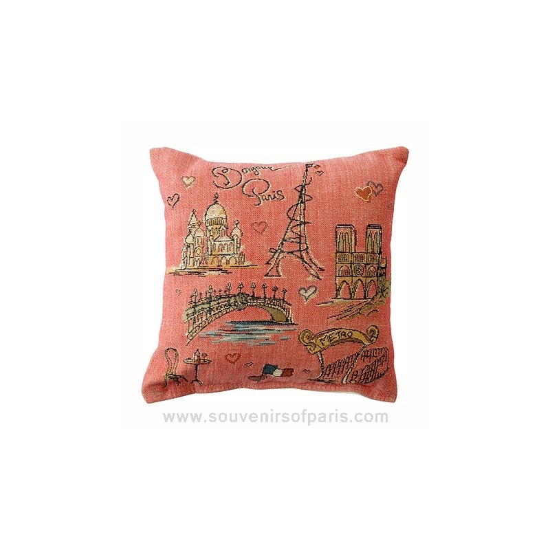 Quot Bonjour Paris Quot Decorative Pillow