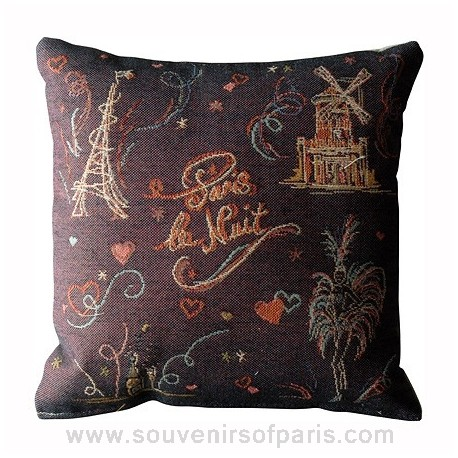 """Paris la Nuit"" French Decorative Pillow"