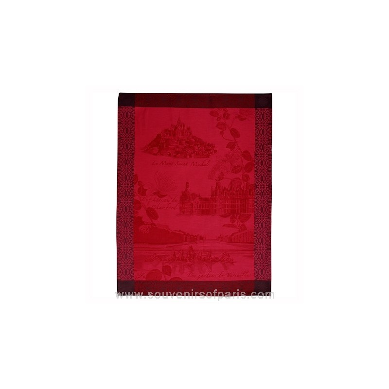 French Monuments Tea Towel