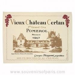 Pomerol Wine - Vieux Château Certan Dish Towel